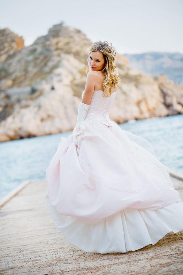 Morske poročne obleke